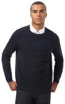 Red Herring Big And Tall Navy Textured Jumper