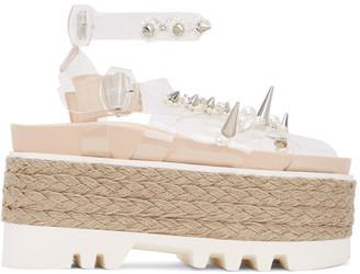 Simone Rocha Transparent PVC Pearl Platform Sandals