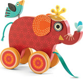 Djeco Wooden pull-along elephant toy