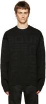 Juun.J Black Embossed Lettering Sweater