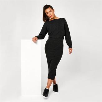 M Lounge Long Sleeve Knit Dress