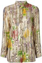Etro floral print shirt - women - Silk/Metallic Fibre - 40