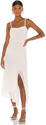 Rebecca Taylor Sleeveless Dot Embroidery Dress
