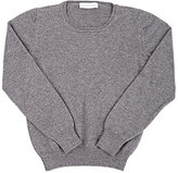 Alchimilla Stockinette-Stitched Cashmere Sweater-GREY