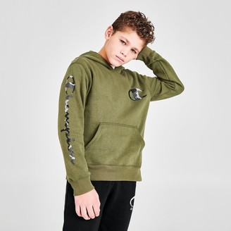 Champion Boys' Camo C Logo Fleece Pullover Hoodie
