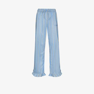Ganni Striped Cotton Pyjama Bottoms