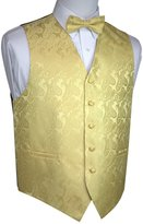 Brand Q Men's Tuxedo Vest and Bow-Tie Set- Paisley-L