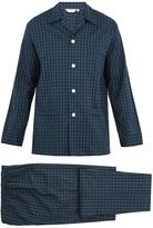 Derek Rose Braemar checked cotton-flannel pyjama set