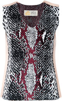 Theatre Products snakeskin print tank