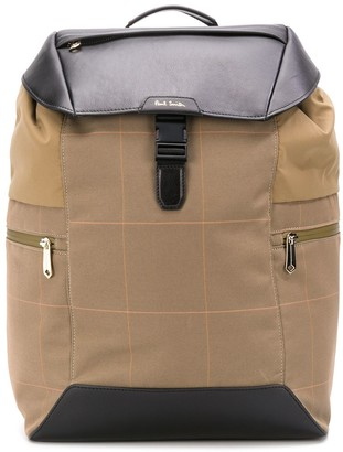Paul Smith Checked Print Backpack