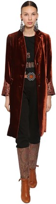 Etro BISTROL ONE BREAST VELVET COAT
