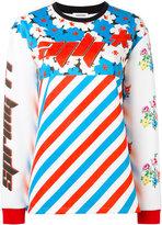 Au Jour Le Jour contrast print T-shirt - women - Polyamide/Polyester/Spandex/Elastane - 40