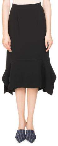 Altuzarra Arthur Crepe A-line Midi Skirt