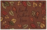 ''Family Gathers Here'' Rug - 20'' x 30''
