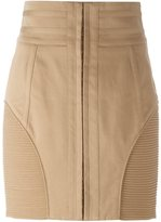 Balmain ribbed detail skirt