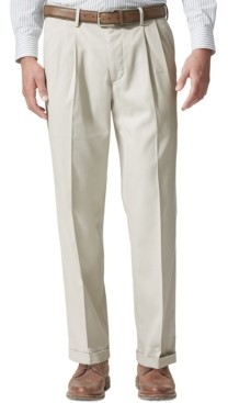 Dockers Comfort Relaxed Pleated Cuffed Fit Khaki Stretch Pants