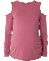 Dorothy Perkins Womens **Maternity Pink Soft Touch Cold Top- Pink