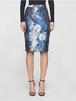 Calvin Klein Brocade Pencil Skirt