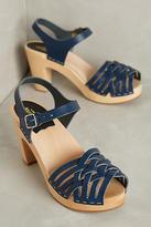 Swedish Hasbeens Woven Sandal Clogs