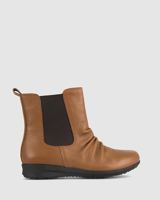 Airflex Women's Chelsea Boots - Cat Leather Rouche Boots - Size One Size, 6 at The Iconic