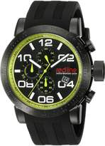 Redline Red Line Men's RL-50068-BB-01-GRN Night Rally Analog Display Quartz Black Watch
