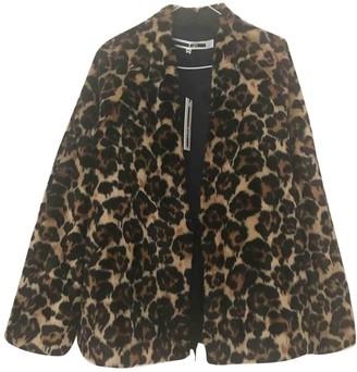 McQ Brown Faux fur Coat for Women