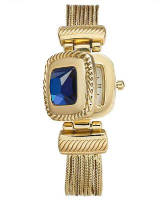 Charter Club Women Gold-Tone Blue Stone Multi-Chain Flip Watch 31mm
