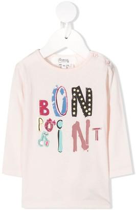 Bonpoint Logo Print Long-Sleeve Top