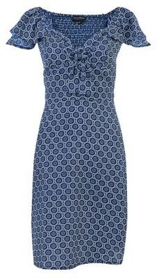 Dorothy Perkins Womens Geometric Print Tie Front Dress
