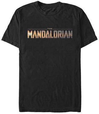 Fifth Sun The Mandalorian Logo Mens Crew Neck Short Sleeve Star Wars Graphic T-Shirt
