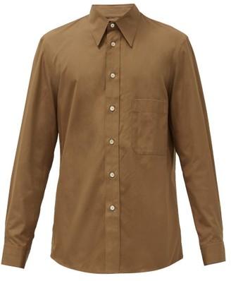 Lemaire Cotton-poplin Shirt - Brown