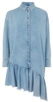 Topshop MOTO Denim Asymmetric Shirt Dress