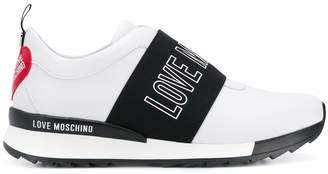 Love Moschino logo panel low top sneakers