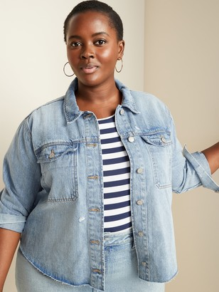 Old Navy Cropped Cut-Off Plus-Size Jean Jacket