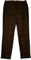 Claudie Pierlot Green Cotton Trousers for Women