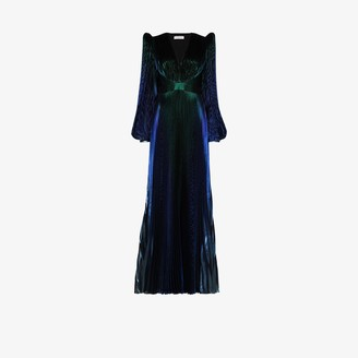 Givenchy Pouf sleeve pleated gown