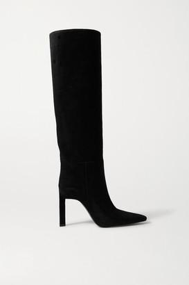 ATTICO Suede Knee Boots - Black