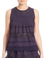 LOVESHACKFANCY Sleeveless Bella Crochet Top
