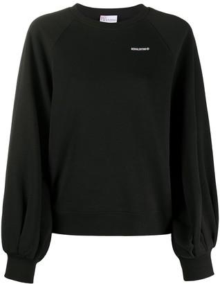 RED Valentino Puff-Sleeve Sweatshirt