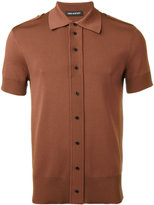 Neil Barrett front button polo shirt - men - Nylon/Viscose - L
