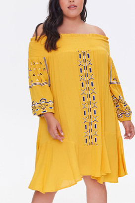 Forever 21 Plus Size Embroidered Dress