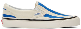 Vans Blue and White Striped Classic 98 DX Slip-On Sneakers