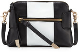 Foley + Corinna Emma Leather Crossbody Bag, Black/White