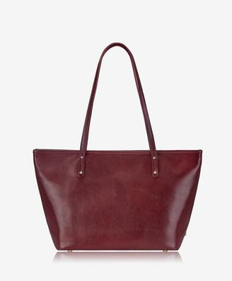 GiGi New York Zip Taylor Tote, Burgundy Croix Grain Leather