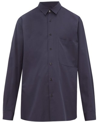 Raey Chest-pocket Cotton-poplin Shirt - Mens - Navy