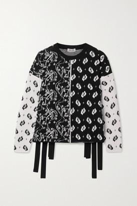 Kenzo Patchwork Jacquard Sweater - Black