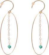 ginette_ny Fallen Sky Ellipse 18-karat rose gold earrings