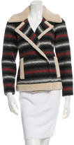 Adam Shearling-Lined Long Sleeve Coat