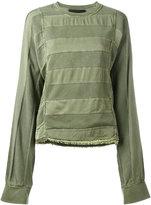 Haider Ackermann cut stripes longsleeved T-shirt - women - Cotton/Viscose - S