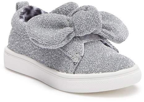 313518c1c2a90 Silver Lurex Knot Slip-On Sneaker (Toddler)